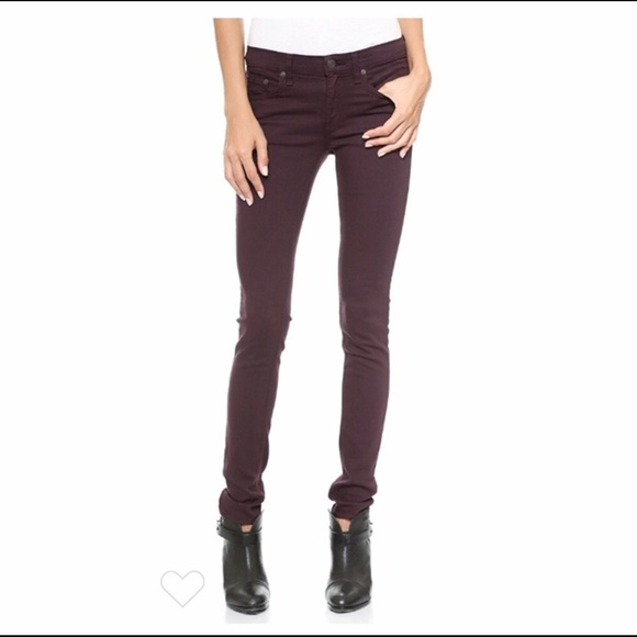 Rag & Bone Skinny Jeans Wine Burgundy Size 29